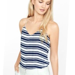 Express Barcelona cami NWT - navy white stripes